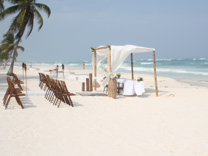 Tulum Wedding Ceremony at the beach